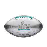 NFL Super Bowl LIV 54 Official Metallic Football with All 54 Super Bowl Logo's