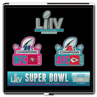 Super Bowl LIV 54 Kansas City Chiefs vs. San Francisco 49ers Dueling Pin Set - Limited to only 5,000 made