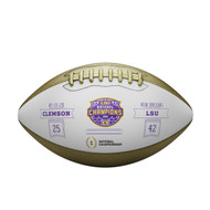 LSU Tigers College Football Playoff 2019 National Champions Metallic Commemorative Football