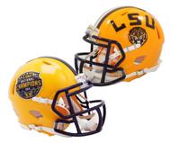LSU Tigers College Football Playoff 2019 National Champions Revolution Speed Mini Football Helmet