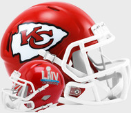 Kansas City Chiefs Super Bowl LIV 54 Champions Revolution Speed Mini Football Helmet