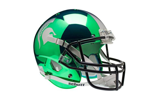 Michigan State Spartans Alternate Chrome Schutt Full Size Replica XP Football Helmet