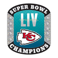 Super Bowl LIV 54 Kansas City Chiefs Champions Diamond Lapel Pin