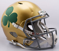 Notre Dame Fighting Irish Shamrock NCAA Full Size Replica SPEED Football Helmet