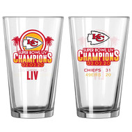 Kansas City Chiefs Super Bowl LIV 54 Champions Game Summary 16 oz. Pint Glass