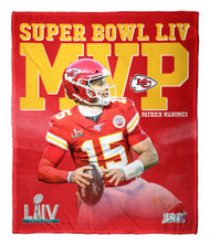 "Patrick Mahomes Kansas City Chiefs Super Bowl LIV MVP Silk Touch 50"" x 60"" Throw Blanket"