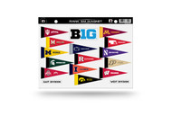 NCAA BIG 10 Rank 'Em All Big Ten Teams Mini Pennant Magnet Standings Set Sheet