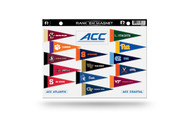 NCAA ACC Rank 'Em All Atlantic Coast Conference Teams Mini Pennant Magnet Standings Set Sheet