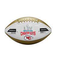 Kansas City Chiefs Super Bowl LIV Champions Commemorative Gold Metallic Football