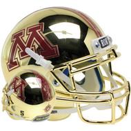 Minnesota Golden Gophers Gold Chrome Schutt Full Size Replica Football Helmet