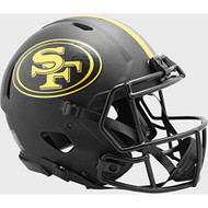 San Francisco 49ers 2020 Black Speed Replica Full Size Football Helmet