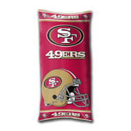 "NFL San Francisco 49ers Folding Body Pillow Size 18"" x 36"""