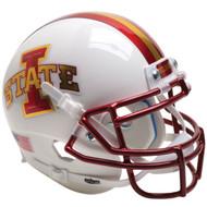 Iowa State Cyclones Chrome White Schutt Full Size Replica Football Helmet