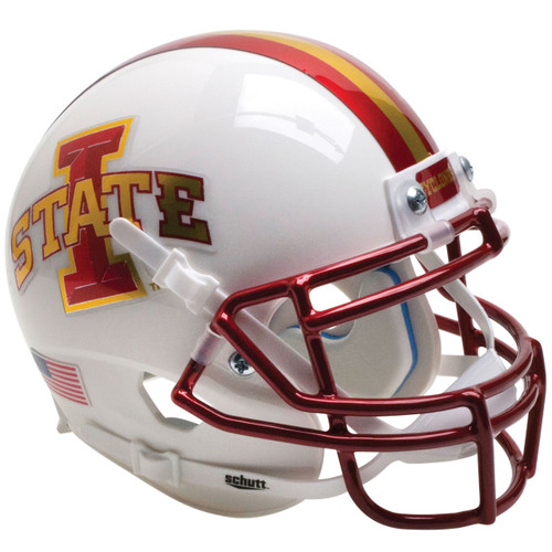 Iowa State Cyclones Chrome White Schutt Full Size Replica XP Football Helmet
