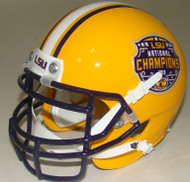 LSU Tigers Special 2019 CFP NCAA National Champions Schutt Authentic Mini Football Helmet