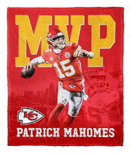 "Patrick Mahomes Kansas City Chiefs NFL MVP Silk Touch 50"" x 60"" Throw Blanket"