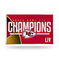 Kansas City Chiefs Super Bowl LIV 54 Champions 3' x 5' Banner Flag with Grommets