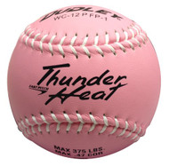 "Dudley 12"" Thunder Heat Pink Composite Fastpitch Softballs with White Stitching (1 dozen)"