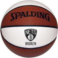 Brooklyn Nets NBA 3 White Panel Autograph Signature Series Full Size Basketball (29.5 inch)