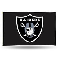 NFL Las Vegas Raiders 3-Foot by 5-Foot Single Sided Banner Flag with Grommets