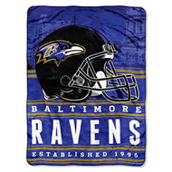"Baltimore Ravens NFL ""Stacked"" Silk Touch Fleece Throw Blanket 60"" x 80"""