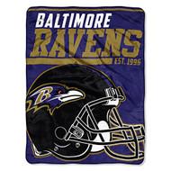 "Baltimore Ravens NFL ""40 Yard Dash"" Micro Raschel Fleece Throw Blanket 46"" x 60"""