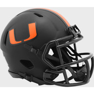 Miami Hurricanes 2020 Black Revolution Speed Mini Football Helmet