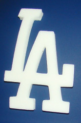Los Angeles Dodgers Raised 3D LA Printed Foam Full Size Batting Helmet Logo Decal