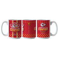 Kansas City Chiefs Super Bowl LIV 54 Champions Game Summary 15oz. Coffee Mug