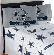 NFL Dallas Cowboys Full Sheet Bed and Pillow Case Sheet Set