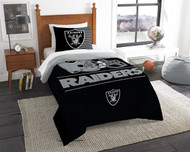 Las Vegas Raiders NFL Twin Bed Comforter and Sham Set