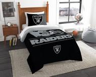 Las Vegas Raiders NFL Twin Bed Comforter and Sham Set