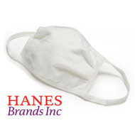 Hanes White 100% Cotton Face Mask Washable Protective Cover - 5 Pack