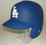 Los Angeles Dodgers MATTE BLUE Rawlings LEC Coolflo Full Size Baseball Batting Helmet with 3d LA Logo