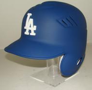 Los Angeles Dodgers MATTE BLUE Rawlings LEC Coolflo Full Size Baseball Batting Helmet with 3d LA Logo