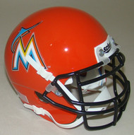 Miami Marlins Schutt MLB Mini FOOTBALL Helmet
