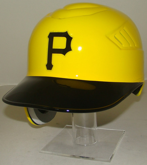 Pittsburgh Pirates Yellow Gold Rawlings REC Coolflo Full Size Baseball Batting Helmet Front