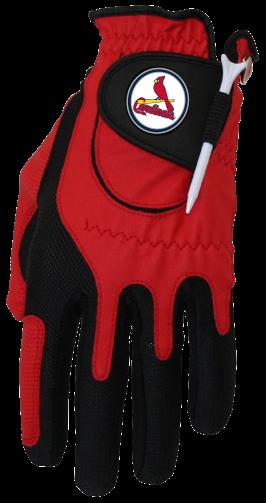 Zero Friction MLB St. Louis Cardinals Red Golf Glove, Left Hand