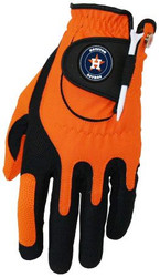 Zero Friction MLB Houston Astros Orange Golf Glove, Left Hand