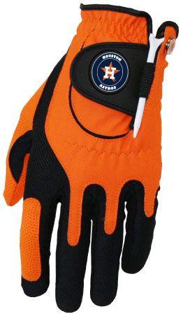 Zero Friction MLB Houston Astros Orange Golf Glove, Left Hand