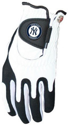 Zero Friction MLB New York Yankees White Golf Glove, Left Hand
