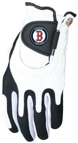 Zero Friction MLB Boston Red Sox White Golf Glove, Left Hand