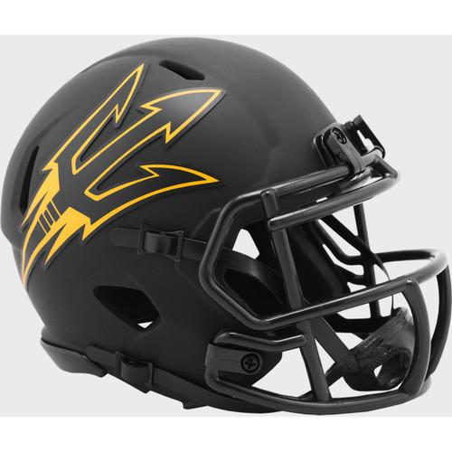Arizona State Sun Devils MATTE BLACK Eclipse Revolution SPEED Mini Football Helmet