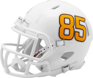 Arizona State Sun Devils White Fork with #85 Revolution SPEED Mini Football Helmet LEFT SIDE