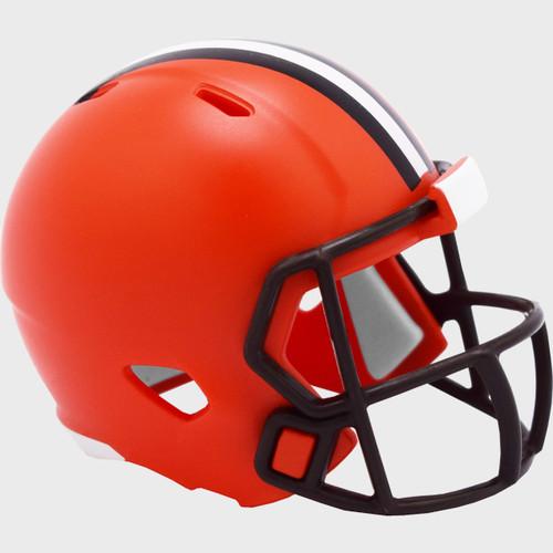 Cleveland Browns 2020 Logo Riddell Mini Revolution Speed Pocket Pro Football Helmet