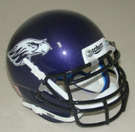 Wisconsin Whitewater Warhawks Schutt Mini Authentic Football Helmet