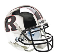 Rutgers Scarlet Knights Chrome with Black R & Stripe Schutt Mini Authentic Helmet