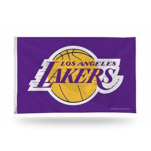 Los Angeles Lakers Purple NBA 3 x 5 Foot Banner Flag with Grommets