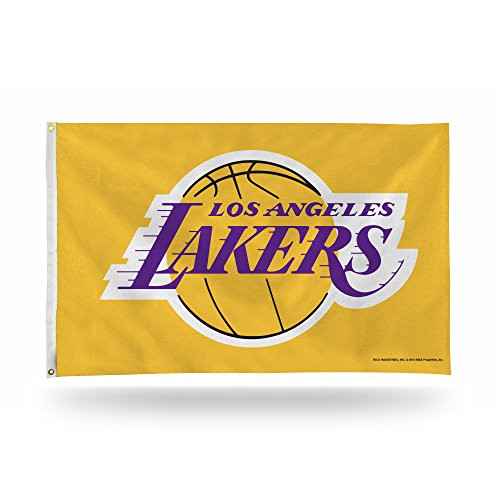 Los Angeles Lakers Yellow / Gold NBA 3 x 5 Foot Banner Flag with Grommets