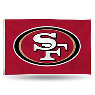 San Francisco 49ers NFL 3 x 5 foot Banner Flag with Grommets